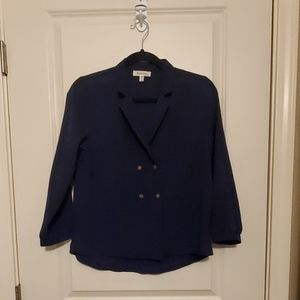 Morneau Navy Blouse